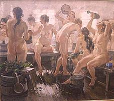 Женская помывка в деревенской бане фото 457-794