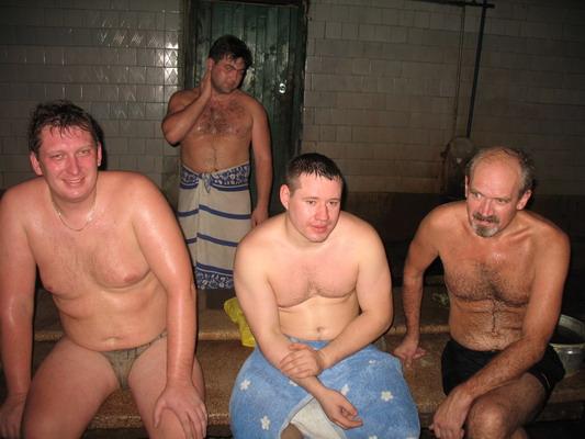 У мужиков встаёт в бане