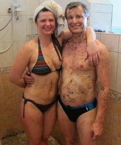 С хеной в бане